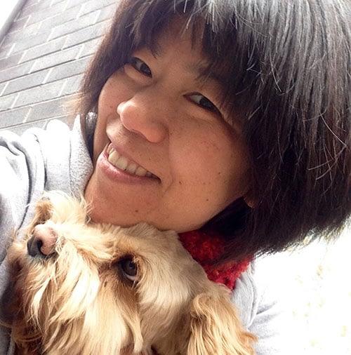 Kari and her dog